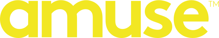 Amuse Wordmark Logo – Yellow